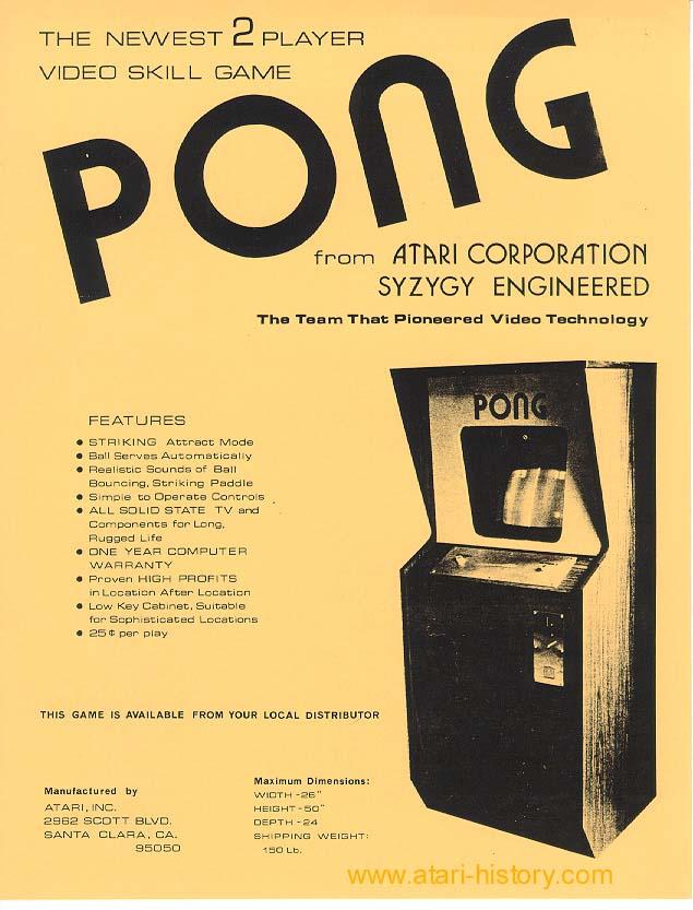 Atari Pong Flyer